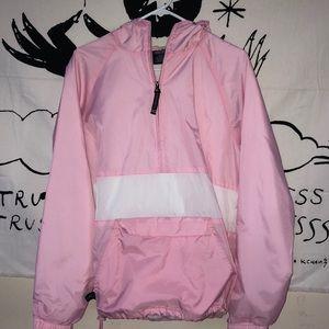 charles river pink colorblock windbreaker